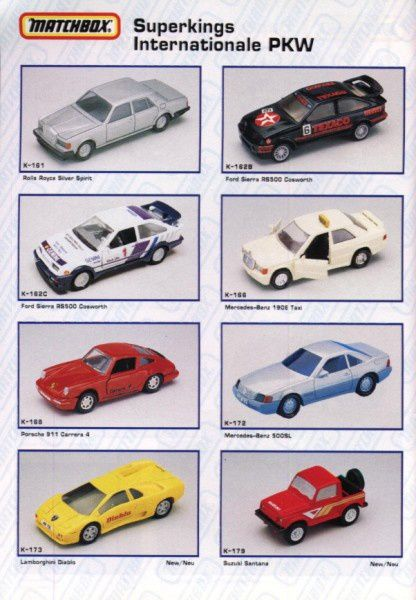 catalogue matchbox annee 1992 s40