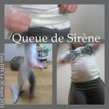 D guisement de sir ne patron tuto diy part two que for Queue de sirene piscine