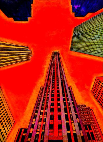 Rockfeller Center-Peinture de Christian Vancau
