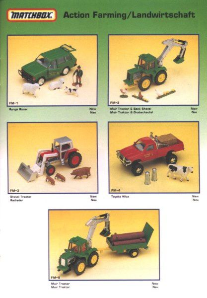 catalogue matchbox annee 1992 s33 set farm matchbox