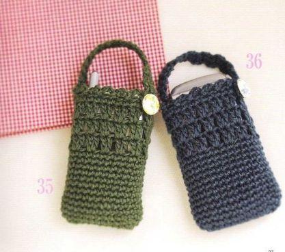 pochettes portables bleue et verte