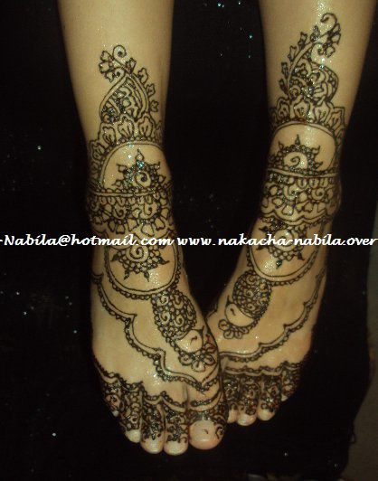 Henna Lalla 3roussa Indou Pakistanais By Nakacha Nabila Pieds - Le ...
