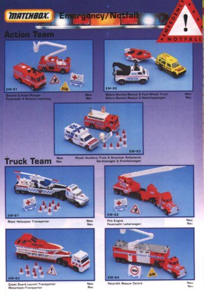 catalogue matchbox annee 1992 s14