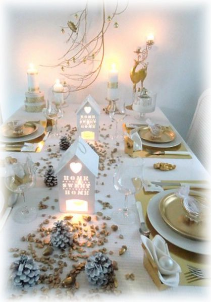Table home sweet home no l 2014 suite la pilounette Une deco de table de noel