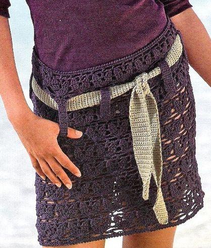 jupe mauve