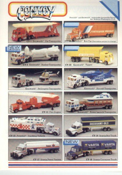 catalogue matchbox 1986 p13 convoi camions