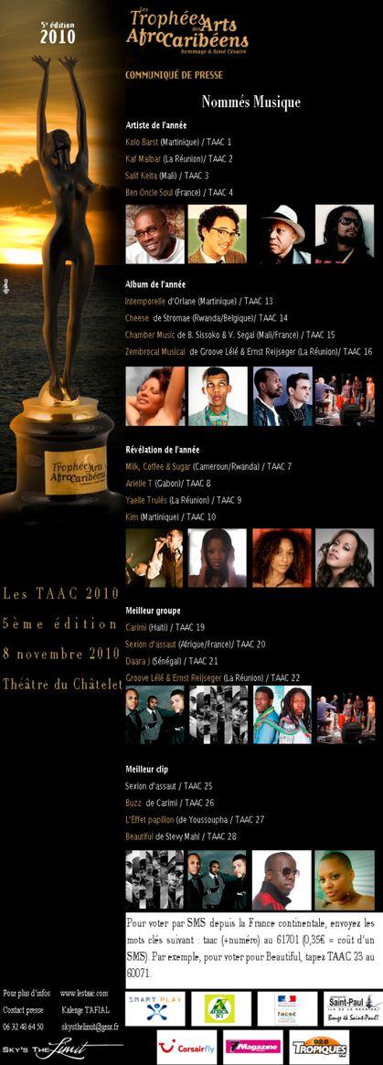 Les Trophées des Arts Afro Caribéens 2010