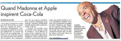 When Madonna and Apple inspire Coca-Cola - La Presse Affaires - September 21, 2010
