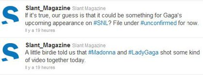 Slant Magazine: Madonna and Lady Gaga shot video together