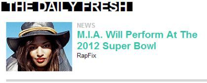 M.I.A. Confirms Super Bowl Performance with Madonna