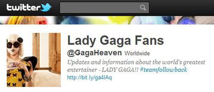 Lady Gaga Fans follows 'Madonna Fans' World' on Twitter