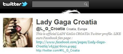 Lady Gaga Croatia follows 'Madonna Fans' World' on Twitter