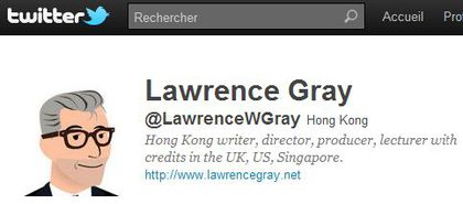 Lawrence Gray follows 'Madonna Fans' World' on Twitter