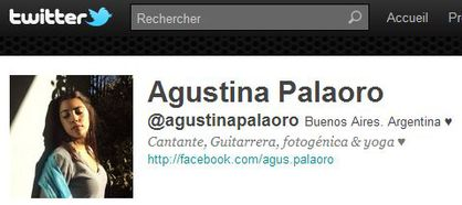 Agustina Palaoro follows 'Madonna Fans' World' on Twitter