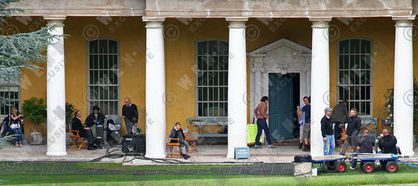 Madonna shoots film ''W.E.'' at West Wycombe Park in Buckinghamshire