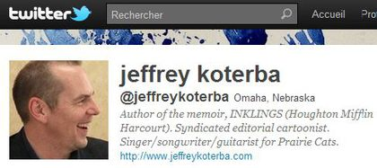 Jeff Koterba follows 'Madonna Fans' World' on Twitter