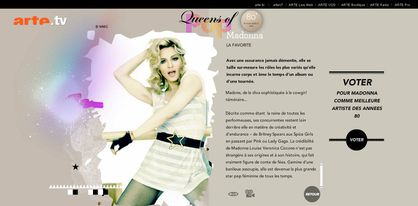 Vote for Madonna as the Queen of Pop at ARTE: Vote NOW!
