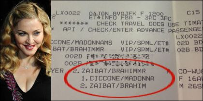 Madonna at Cointrin airport leaving Geneva for New York
