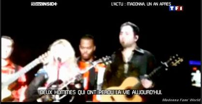 Watch TF1 ''50mn INSIDE'' report on Madonna's Marseille tour accident