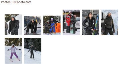 Photos: Madonna and Family Skiing in Gstaad, Switzerland