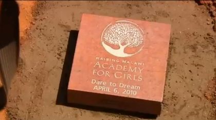 Madonna Lays ''Dare to Dream'' Brick in Malawi