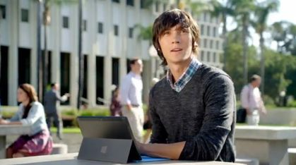Madonna's former dancer Daniel Cloud Campos in Microsoft's ''Surface'' Tablet TV commercial