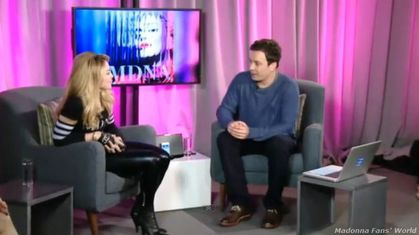 Watch Madonna's Live Facebook Q&A chat with Jimmy Fallon on March 24, 2012