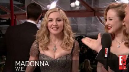 Madonna at 2012 Golden Globe Awards: Red Carpet Interviews