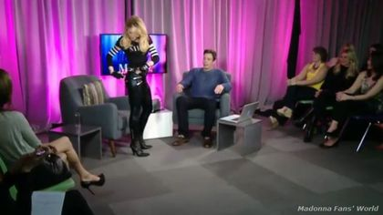 Madonna's dance with Jimmy Fallon live on Facebook - March 24, 2012