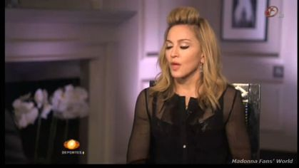 Watch new interview with Madonna on Mexican sport news channel Televisa Deportes - July 20, 2012