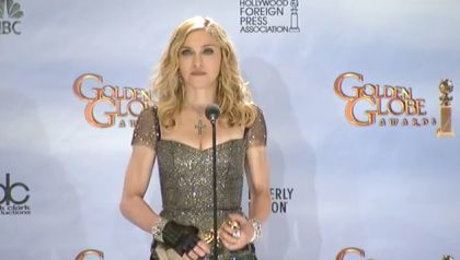 Madonna at 2012 Golden Globe Awards: Press Room Interview