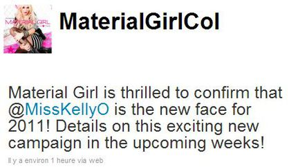 Kelly Osbourne confirmed as the new face of Material Girl
