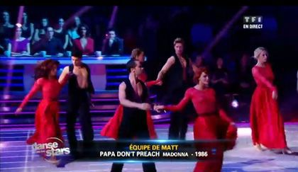Video: ''Danse avec les Stars'' on ''Papa Don&#x2019;t Preach'' (Madonna cover) on TF1 - October 20, 2012