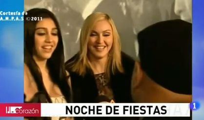 Videos: Madonna and Lourdes at VF Oscar Party - February 27, 2011
