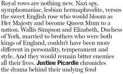 Wallis Simpson Vs Elizabeth
