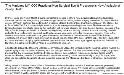 ''The Madonna Lift'' Procedure Available at Veinity Health