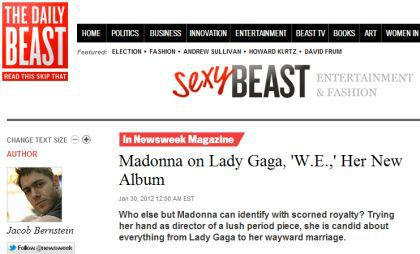 Interview with Madonna by Newsweek - January 30, 2012