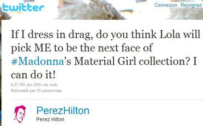Perez Hilton wants to be the next Material Girl