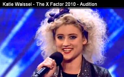 Madonna look-a-like Katie Waissel in X Factor 2010