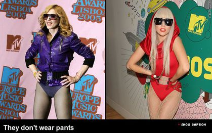 Madonna and Lady Gaga: Comparisons in pictures