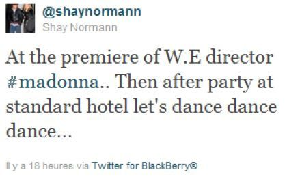 Madonna at US premiere of ''W.E.'' in New York: After-party