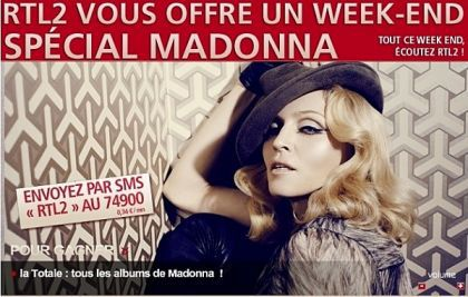 Special Madonna Week-End on French radio RTL2