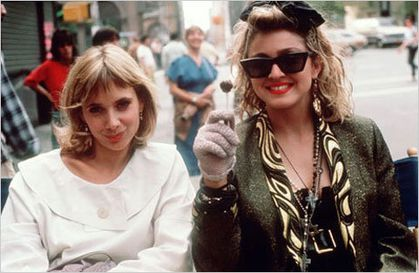 Rosanna Arquette and Madonna during the making of ''Desperately Seeking Susan''
