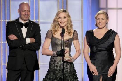 Madonna wins a Golden Globe for ''Masterpiece'' from ''W.E.''