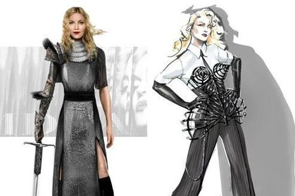 Madonna - MDNA Tour: Costumes Sketches