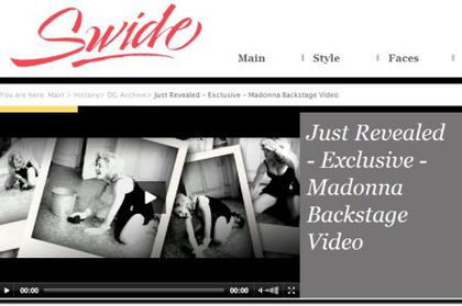 Backstage Video: D&G AW 2010/11 ad with Madonna washing the floor
