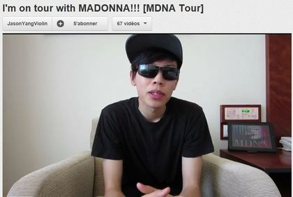 Madonna - MDNA Tour: Video from musician Jason Yang (Violin)