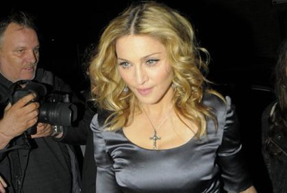 Madonna arrives for her birthday party