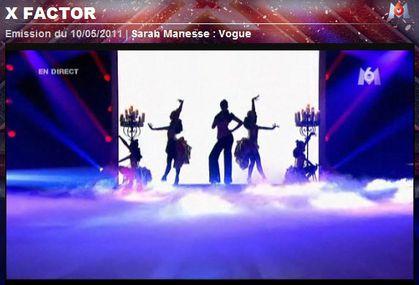 X Factor: Sarah Manesse sings Madonna's ''Vogue''