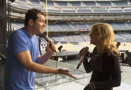 Video: Billy Eichner from 'The Conan Show' finally meets Madonna at NY Yankee Stadium